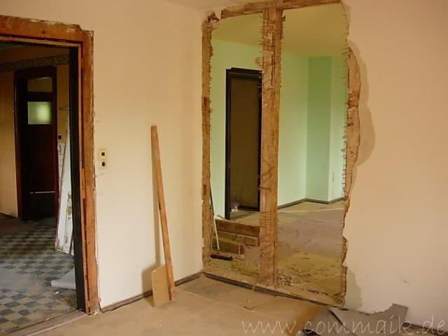 entkernen des wohnzimmers trockenbauvorbereitungen commaik. Black Bedroom Furniture Sets. Home Design Ideas